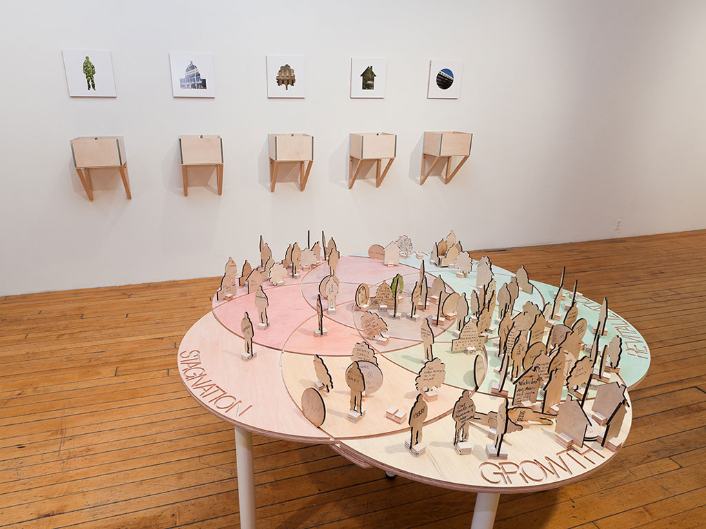 Installation view, photo courtesy of Jerry Mann / SPACES