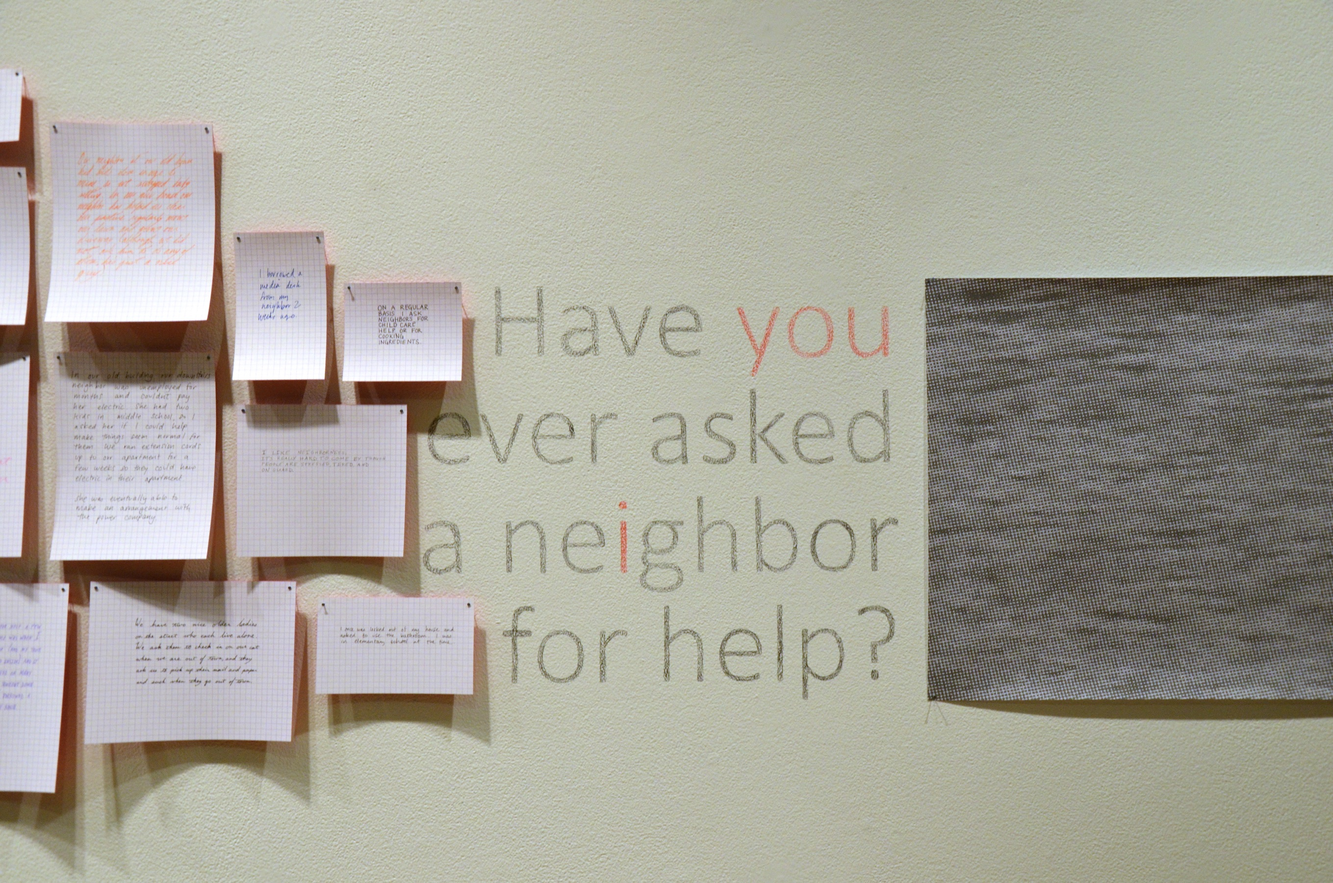 Have you ever asked a neighbor for help?